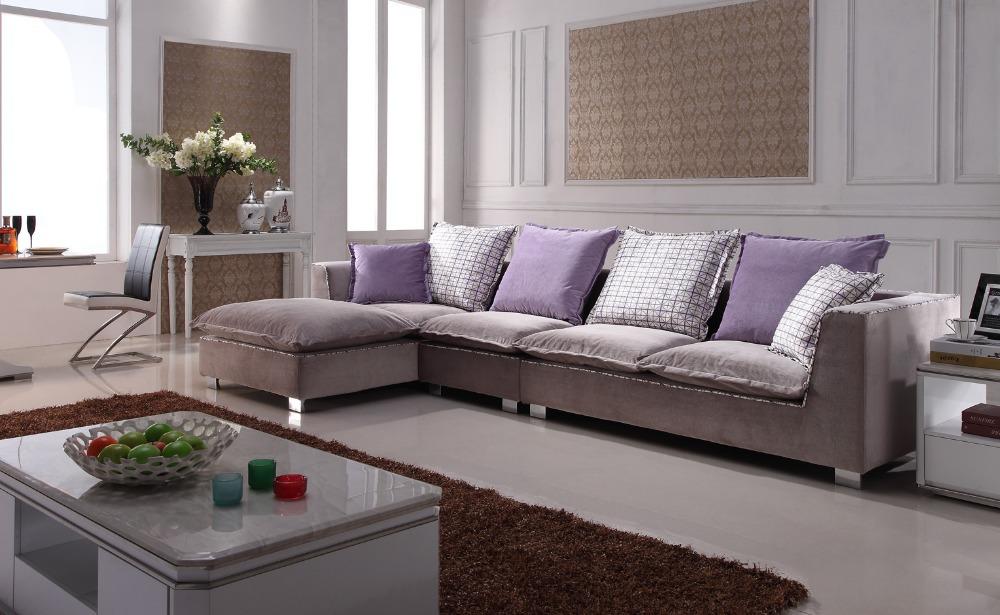 Popular Home Fabric Sofa Colorful Fabric Cushions Handmade