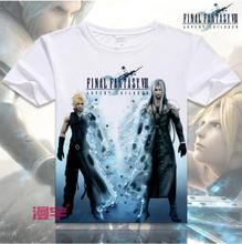 Japanese Anime Tops Final Fantasy Cosplay T shirt Men 2016 Fashion Men T-Shirts Short Sleeve Casual Cosplay T Shirts