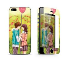 Kissing lover luxury sticker for iphone 5 5s Tempered Glass screen protector iphone5 iphone5s skin cover cell mobile phone film