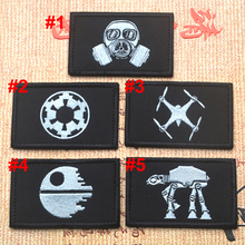 Star Wars Patch 3D Embroidery Velcro Tactical Patch Military Cloth Armband Patches Army Badge Black Color