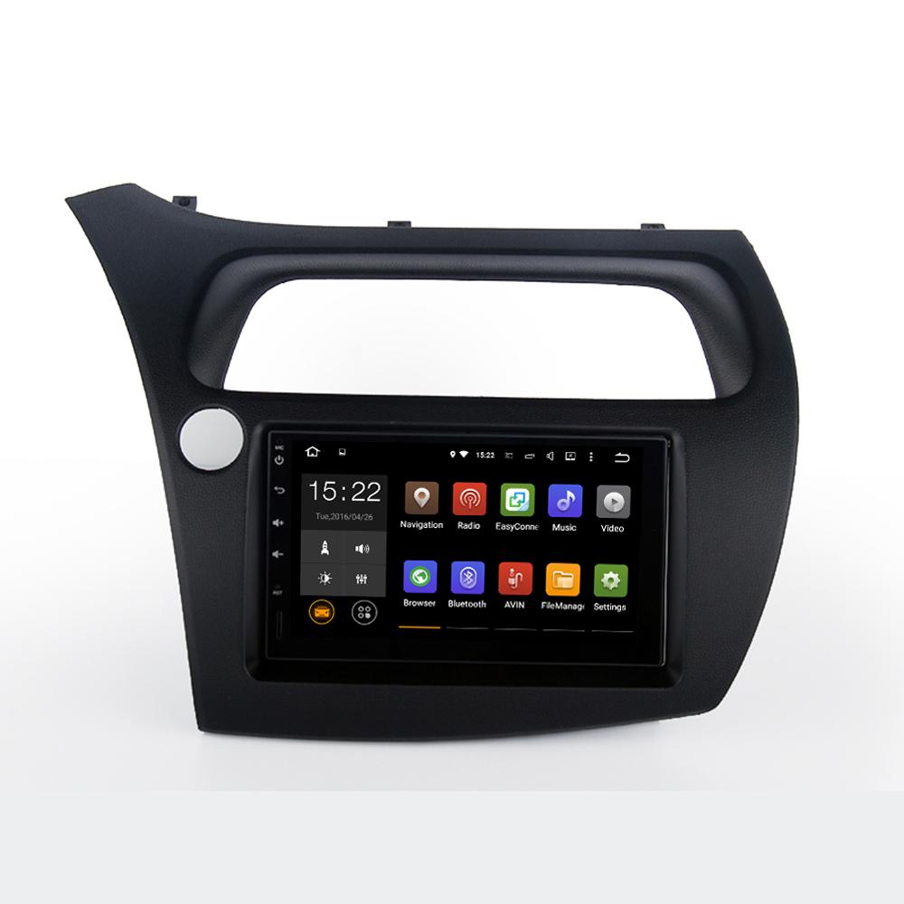 2 DIN Car Radio for Honda Civic Hatchback 2006-2011 WithStereo navi car radio Headunit navi 7inch screen ISO cable free map(China (Mainland))