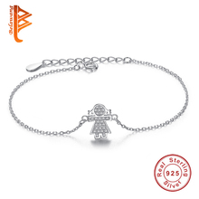 Buy Authentic 100% 925 Sterling Silver Link Chain Bracelet Cute Girls Charm Cubic Zirconia Micro Pave CZ Crystal Bracelet Jewelry for $6.40 in AliExpress store