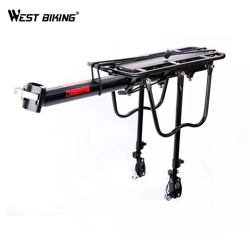 West Biking 1Set Universal Cargo Racks 50kg Max Loading Capacity Cycling Rear Seat Luggage Rack Mountain Bike for Bicycle Saddle(China (Mainland))