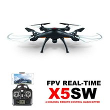 Syma X5SW White and black 6-Axis Gyro 2.4G 4CH Real-time Images Return RC FPV Quadcopter drone WIFI with HD Camera