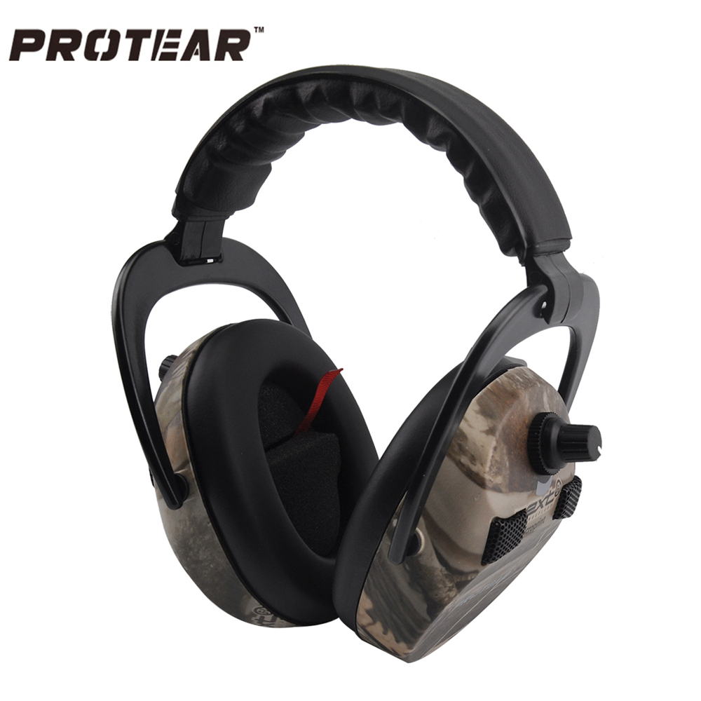 Protear Electronic Ear Protection Shooting Hunting Ear Muff Print Tactical Headset Hearing Ear Protection Ear Muffs for Hunting(China (Mainland))