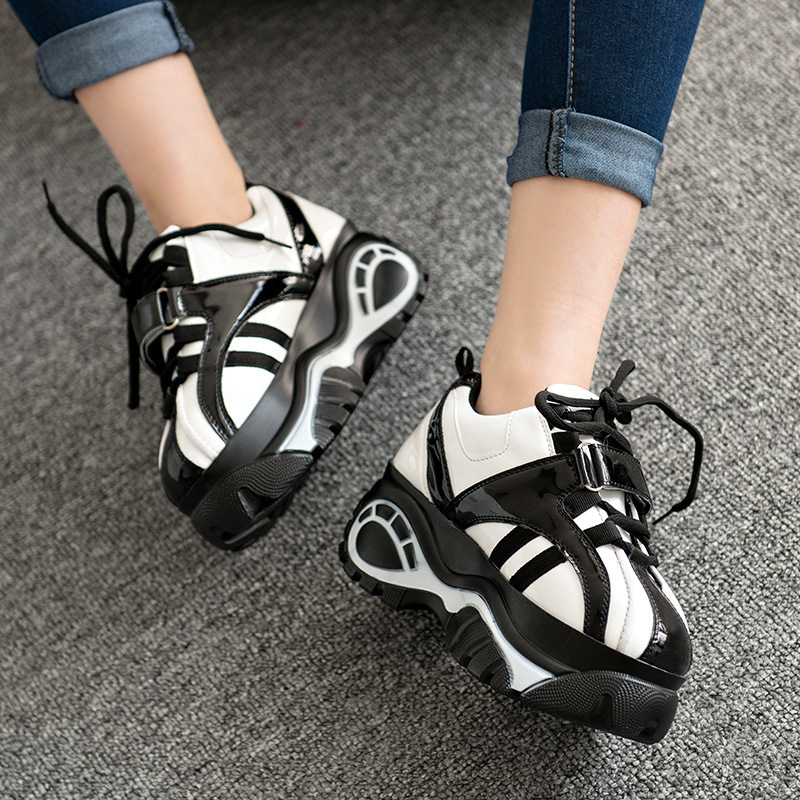 2015 autumn harajuku sport shoes retro platform