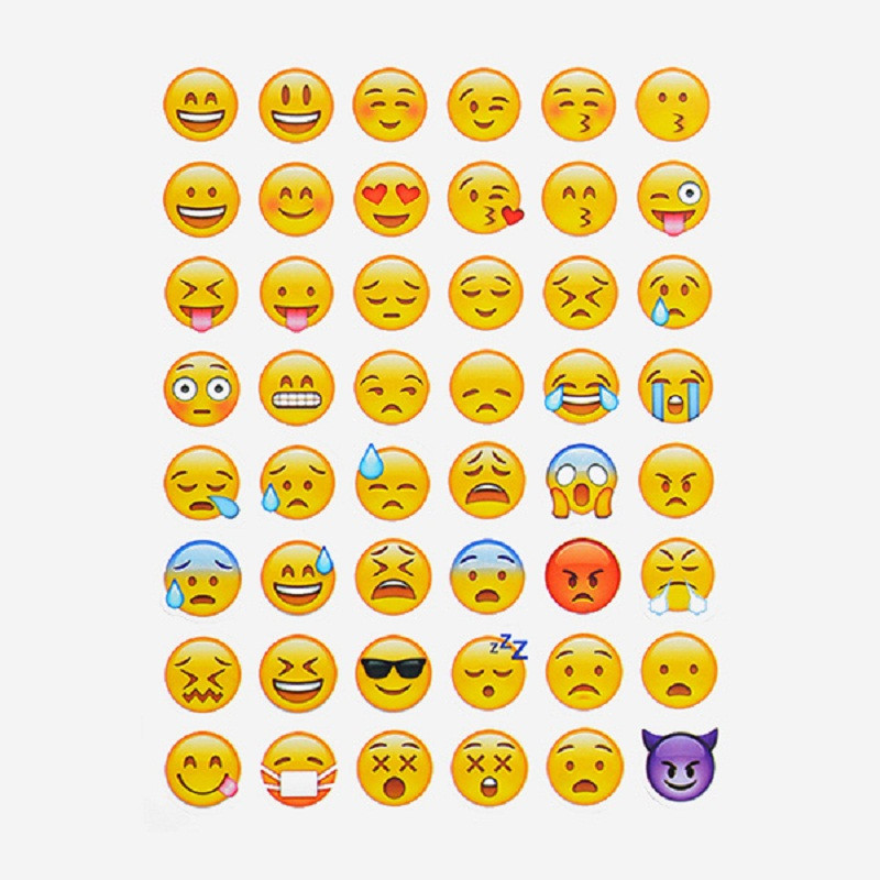 20 sheets/set Emoji Stickers Most Popular Emojis For Mobile Phone Kids Rooms Home Decor Notebook Message(China (Mainland))