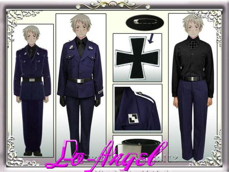 Hot APH Axis Powers Hetalia Prussia Military Uniform  Full Set Cosplay Costume Customized Size Free ShippingОдежда и ак�е��уары<br><br><br>Aliexpress