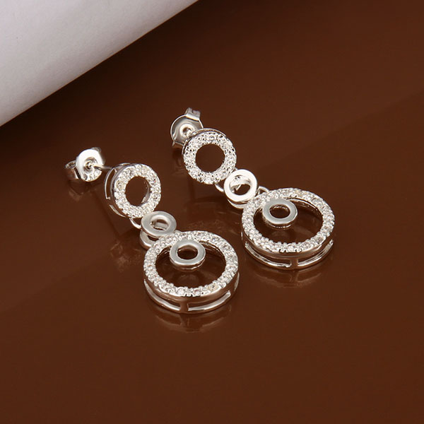 Free Shipping Reasonable Price stud earrings 925 silver jewellery silver earrings australia(China (Mainland))