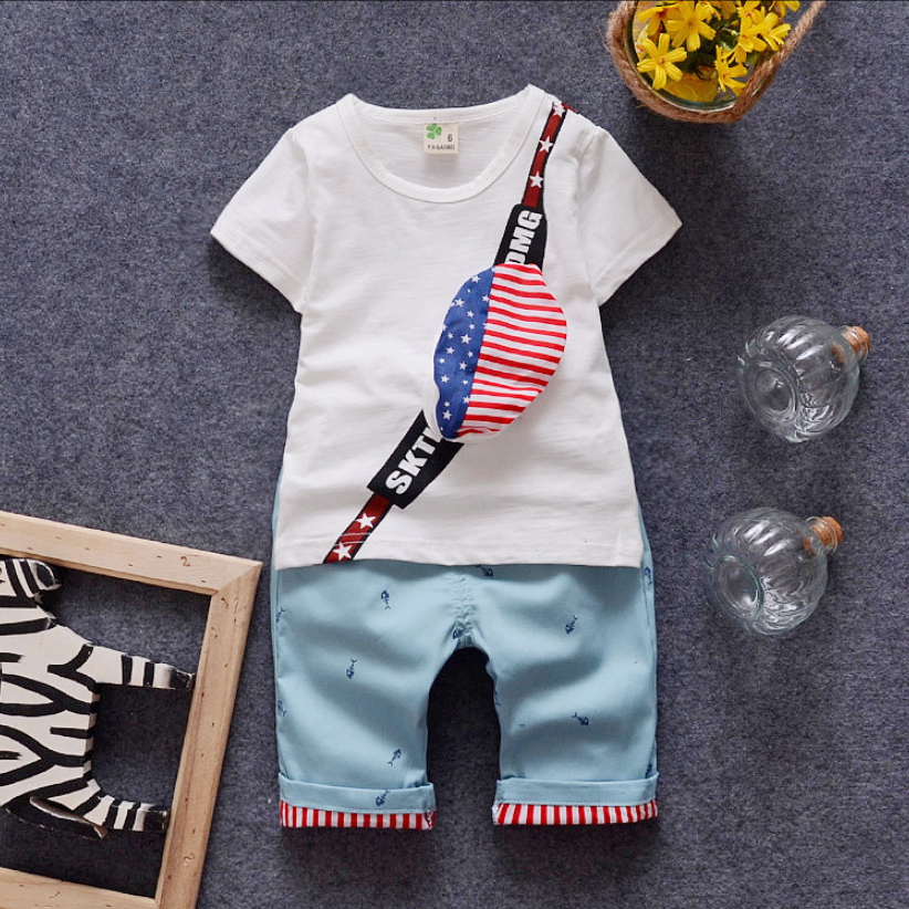 2016 Summer Baby Clothes Set Fashion Baby Suit Cotton Baby Girl Clothing Set Short Sleeve Infant Baby Boy Clothes Set