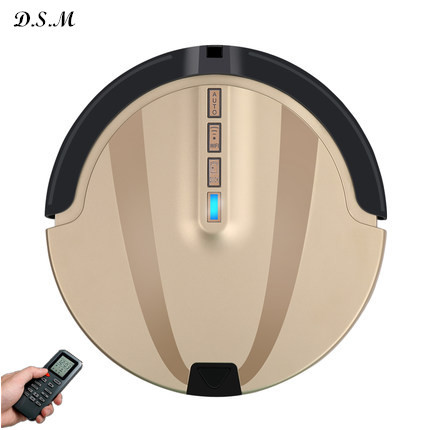 New Kaily brand S750 golden Robot Vacuum Cleaner aspirador LED Touch Screen HEPA Filter,Schedule,Virtual Wall,Self Charge tool(China (Mainland))