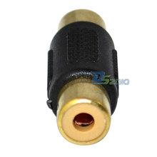 High Quality Brand New Gold Plated F F 1 RCA AV Joiner Coupler Adapter