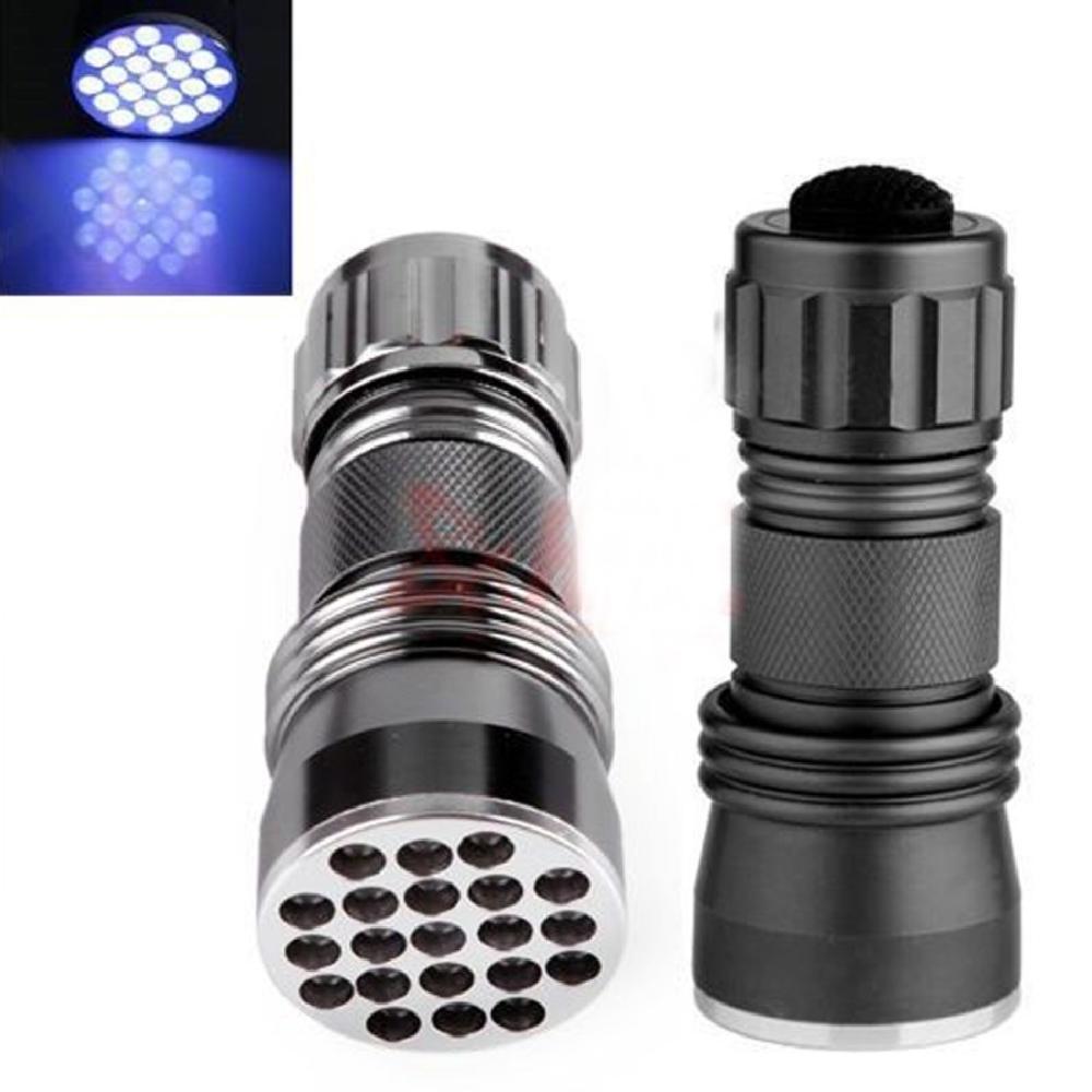 Гаджет  450Lm New Aluminum 21 LED UV Flashlight Ultra Violet Light Blacklight Torch Lamp led flashlight  None Свет и освещение