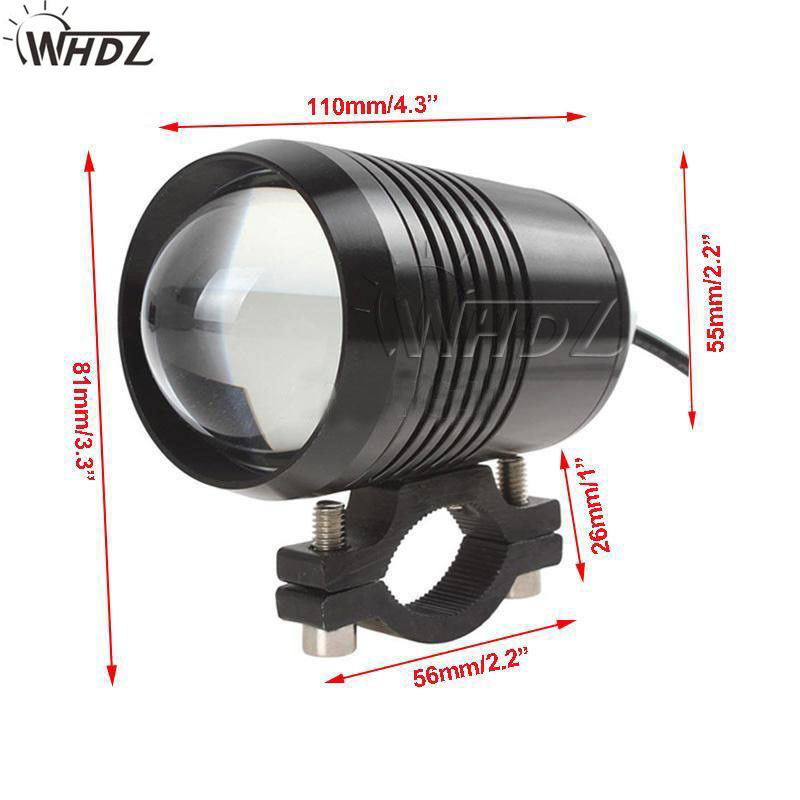 12v 30w U2 Led Motorcycle Fog Spot Light Upper Low Beam Flash Head Lamp Waterproof Working Bulb (2)