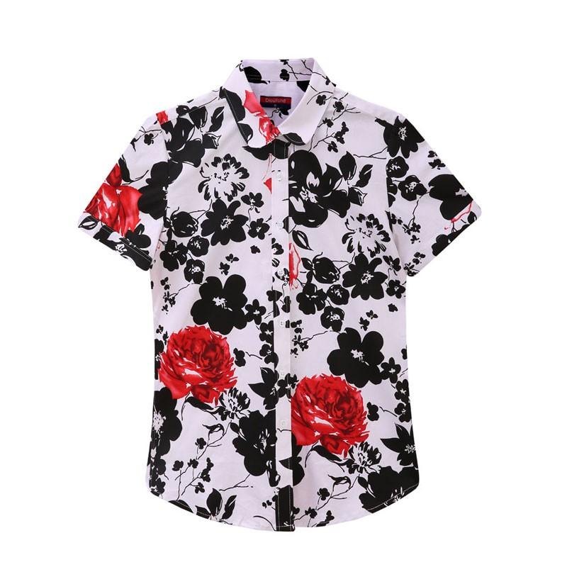 HTB1Id5uRpXXXXXrapXXq6xXFXXXy - Women Cherry Blouses Long Sleeve Shirt Turn Down Collar Floral Blouse
