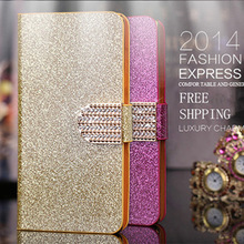Newest Leather Flip Cases Bling Shining Glitter Diamond Case For Samsung Galaxy S3 i9300 Magnetic Wallet Cases With Stand PY(China (Mainland))