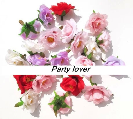 Free shipping decorative rose flowers artificial flower silk flower artificial plants 4.5CM(China (Mainland))