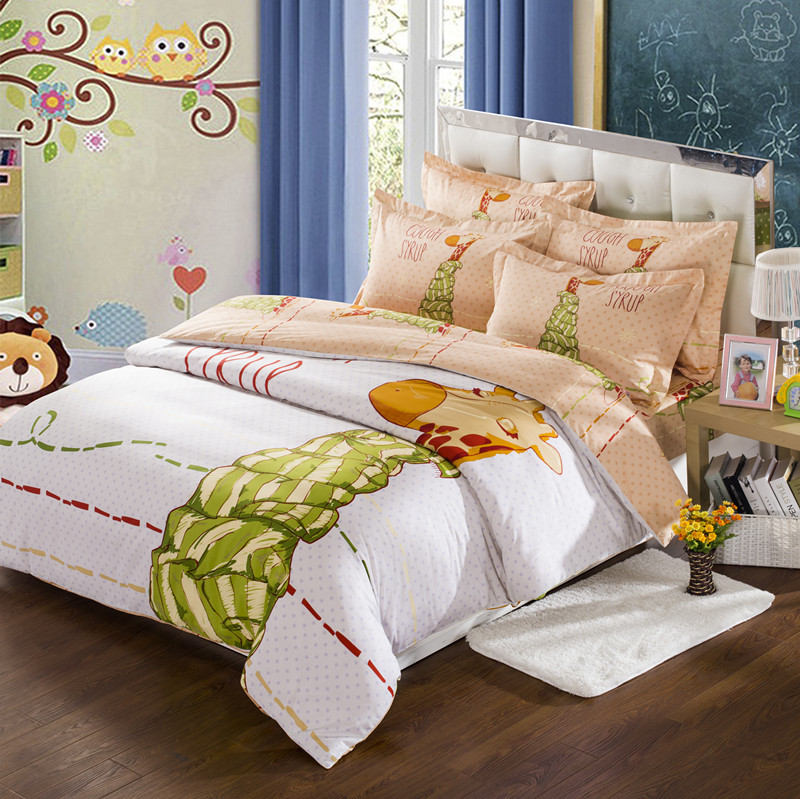 girls kids deer bedding king queen full size boys bedding sets quilt