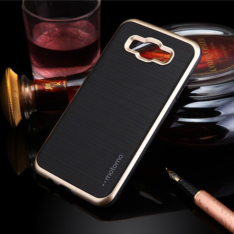 Deluxe 3 in 1 case MOTOMO slim neo hybrid brushed soft silicon TPU case for Samsung J5 J7 J1 J1ACE A5 A8 E5 phone covers capa(China (Mainland))