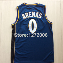 2015 Basketball Gilbert Arenas Jerseys Cheap 0 Washington Team Color Blue Rev 30 New Material Best Quality Free Shipping(China (Mainland))
