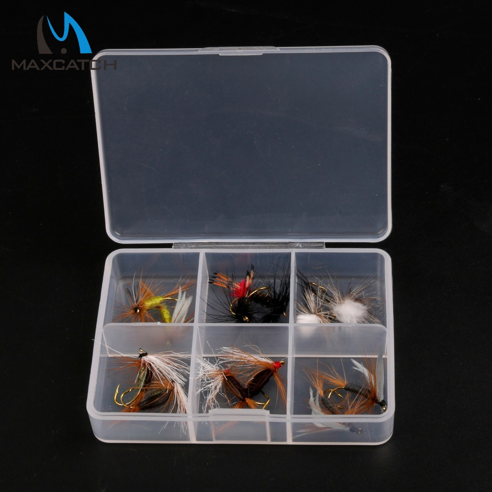 Maxcatch 12Pcs Dry Flies Fly Fishing Flies Set With a Box Trout Fly Flies(China (Mainland))