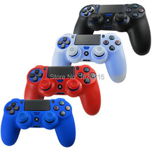 IVY QUEEN 2 in 1 Silicone Gel Rubber Skin Case Black For Sony Playstation 4 PS4 Wireless Controller + Thumb sticks grips cap