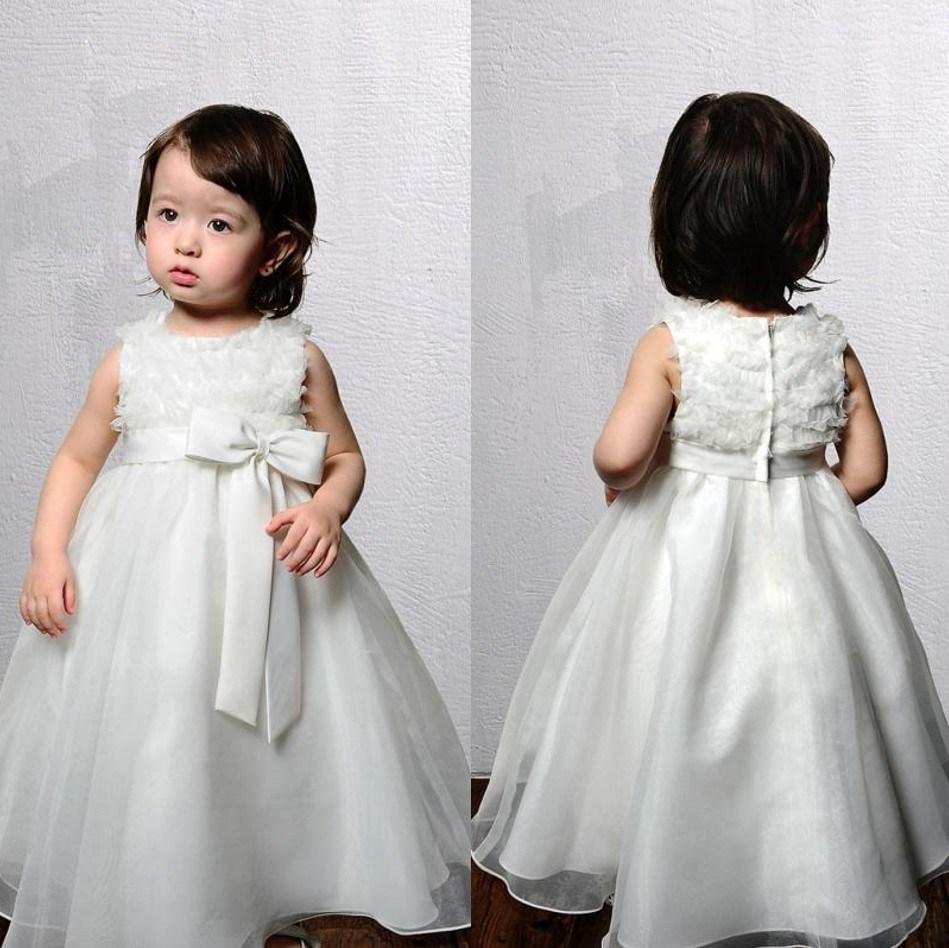 2015 New Collection Handmade Flower Girl Formal Bay Girl Dresses Princess Gown(China (Mainland))