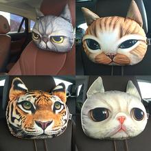 Buy Lovely 3D Cat Car Headrest Head auto headrest Inside Seat Neck Rest car seat Creative Car Neck headrest Soft Auto Head Headrest for $7.97 in AliExpress store