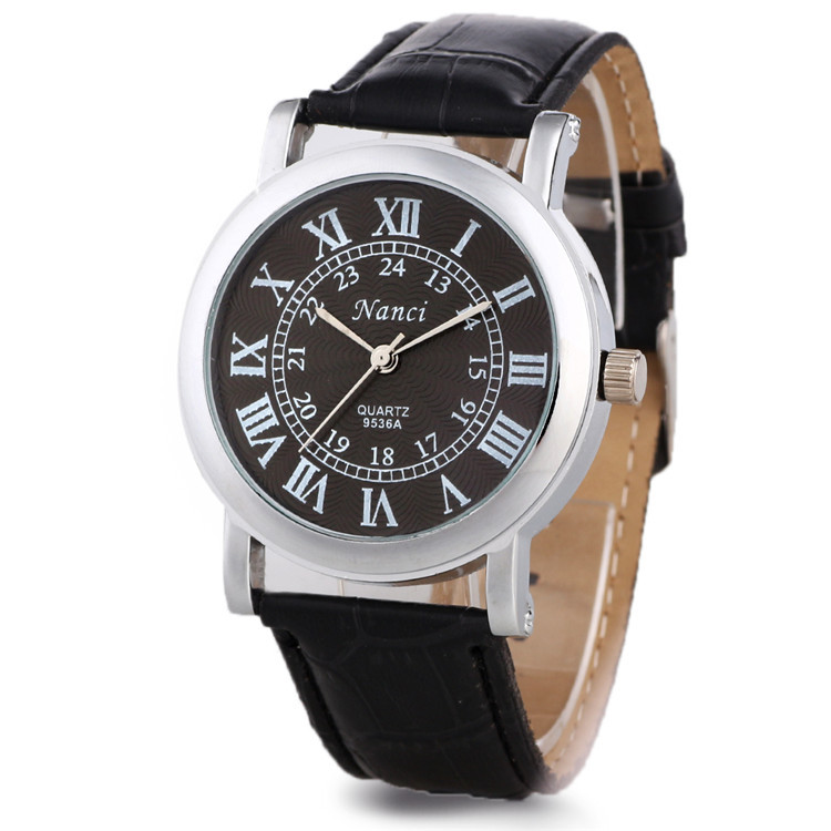 new fashion high quality analog watches leather