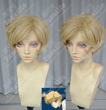 Wholesale& heat resistant LY free shipping>>>Sailor Moon Sailor Uranus Dark Blonde Tenoh Haruka Short Cosplay Party Wig Hair