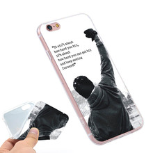 Buy Rocky Balboa Motivational Words Clear Soft TPU Slim Silicon Phone Case Cover iPhone 4 4S 5C 5 SE 5S 7 6 6S Plus for $2.39 in AliExpress store