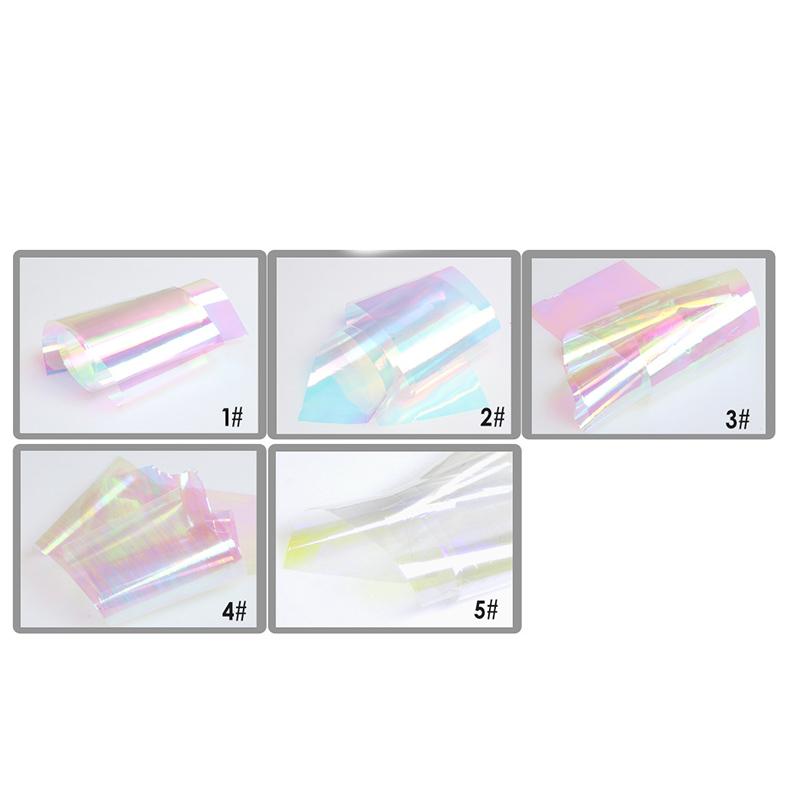 Nail Aurora Platinum Paper Models Symphony Lrregular Broken Glass Nail Art stickers Foil Aurora Platinum Paper Glass Decals