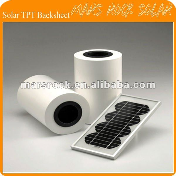 100 meters 680mm Width 0.3mm Thickness Solar back sheet / TPT Solar Encapsulation material(China (Mainland))