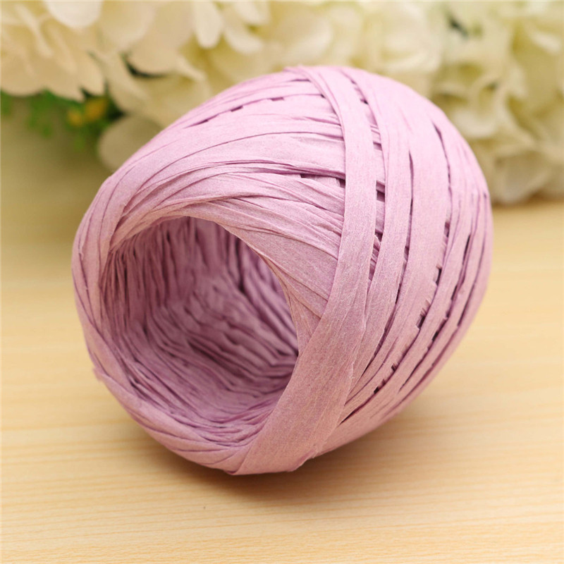 20m Fashion Raffia Paper Gift Ribbon Flowers Bunch Decor Party Wedding Craft Scrapbook Wrapping Decoration About 5.5X5.5cm(China (Mainland))
