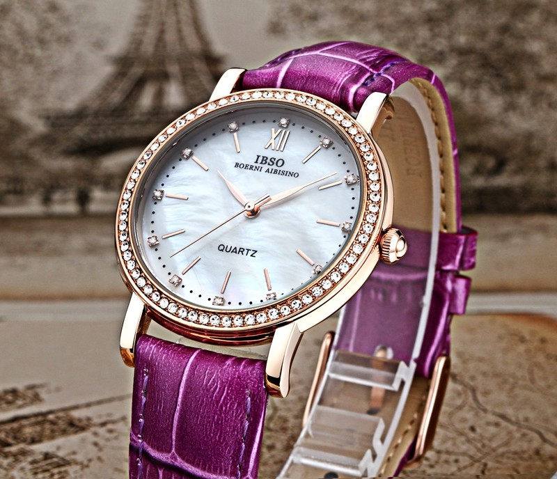 IBSO Small Dial Diamond Watches Shell Surface Watch Fashion Watches Joker Ladies Watches Lover Durable Hot Sale Relogio