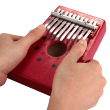 2016 Hot Sale Red 10Keys Kalimba Thumb Piano Traditional Musical Instrument Portable Great Gift Drop Shipping(China (Mainland))