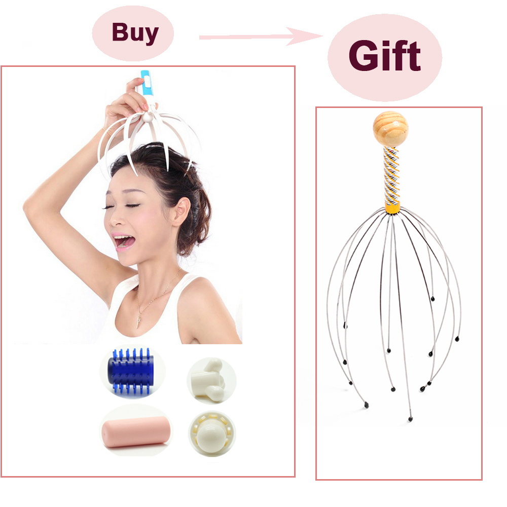 5 In 1 Electric Octopus Head Massager With A Gift Head Scalp Massager Relax Acupuncture Point Tens Health Care Products C735(China (Mainland))