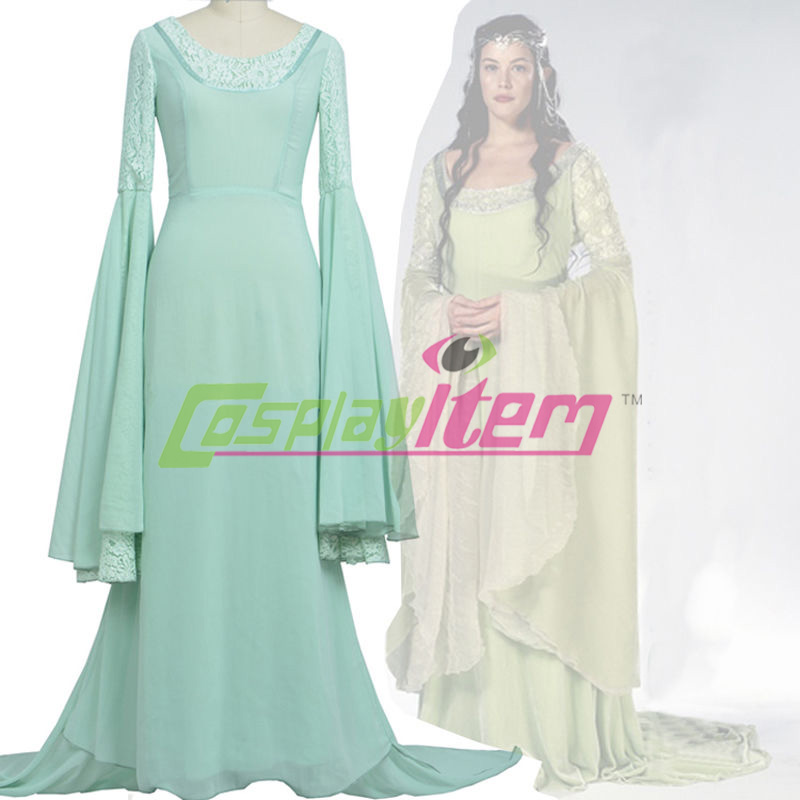 Customized Movie The Lord Of The Rings Arwen Cosplay Costume Women Dress New Одежда и ак�е��уары<br><br><br>Aliexpress
