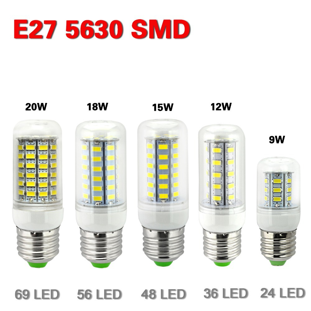 e27 led lamps 5730 220v 7w 12w 15w 18w 20w led lights corn. Black Bedroom Furniture Sets. Home Design Ideas