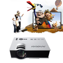 1080P 100% Original Full HD Andoer UC40 TFT LCD LED TV Projector Contrast Ratio 800:1 Home Theater 800 Lumens Portable Projector