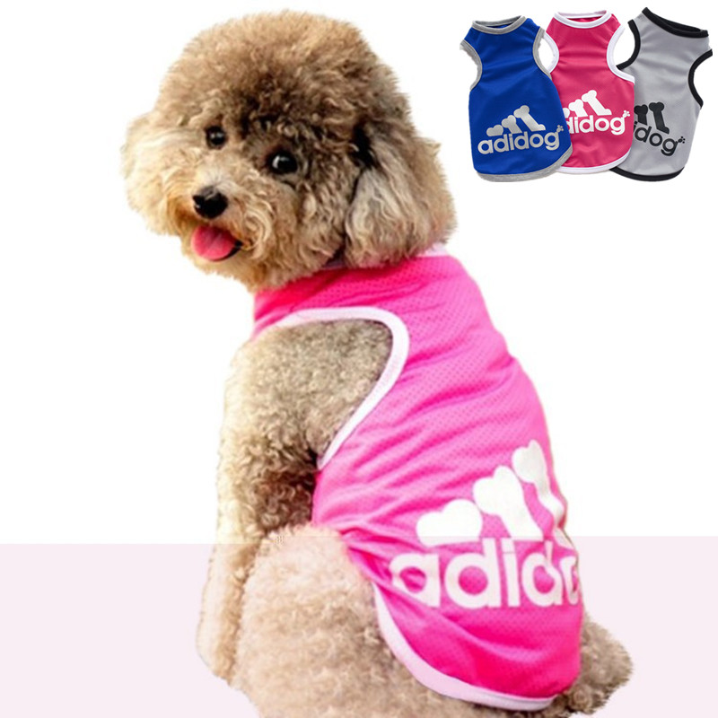 4 Colors 5 Sizes Dog Vest Cotton Breathable Fashion Summer Cat Pet Miniature Pinscher High Quality Costumes Clothes For Dogs(China (Mainland))