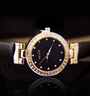 Holiday gift Kezzi sun wen colorful diamond female table Only beautiful noble lady han edition fashion watches(China (Mainland))
