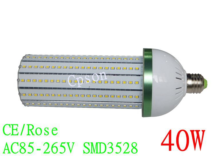 40W E27 LED Corn Light Bulb SMD 3528 Lamp 360 Degree Energy Saving in high light free shipping(China (Mainland))