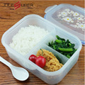 Fashion High Capacity Dinnerware Sets PP Bento Lunch Box Food Container Handle Singel Layer Lunch Box