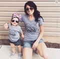 Summer Cotton family matching clothes T shirt matching mother daughter clothes family look family clothing mother