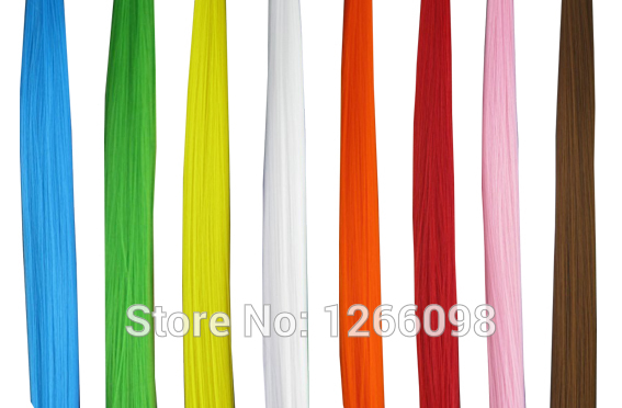 120pcs new 12 colors available Solid Color Snythetic Hair Extension 16inch Straight Hairpiece fake hair with free beads and hook