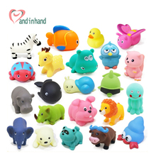 Baby Bath Toys 20pcs Soft Rubber Duck Animals Car Boat Kids Water Toys Squeeze Sound Spraying Beach Bathroom Toys For Children(China (Mainland))
