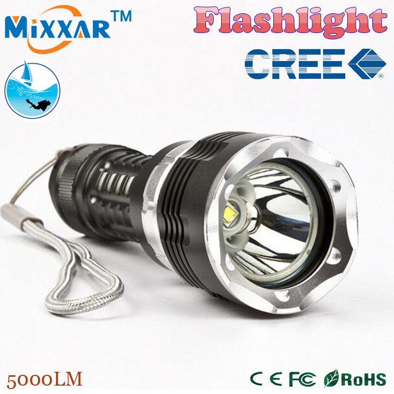 zk90 LED Diving Flashlight torch CREE XM-L2 5000LM 4 mode Zoom lantern Waterproof underwater 120m Military grade lamp flashlight(China (Mainland))
