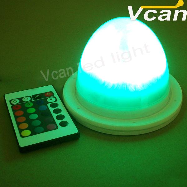 5PCS FAST Free Shipping Battery Operated Remote Multi-Colors RGB LED Waterproof Mini Light Base LED Light source(China (Mainland))