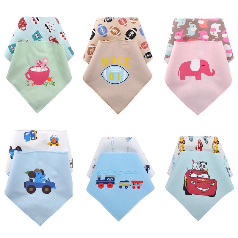 2pcs/lot Cotton Baby Bibs Embroidered Waterproof Bibs Newborn Saliva Towels Infant Wear Burp Cloths Baby Accessories(China (Mainland))